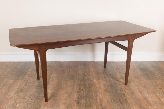 Vintage Retro Mid Century Afromosia Plank Table and 6 Chairs by Younger