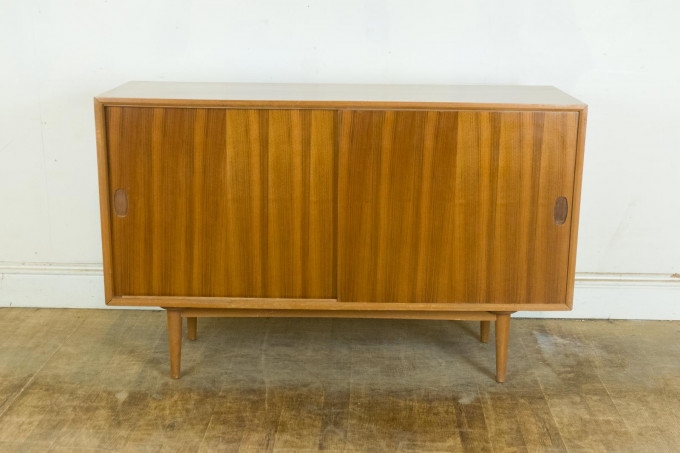 Vintage Retro Heals Mid Century Small Walnut and Light Mahogany Sideboard