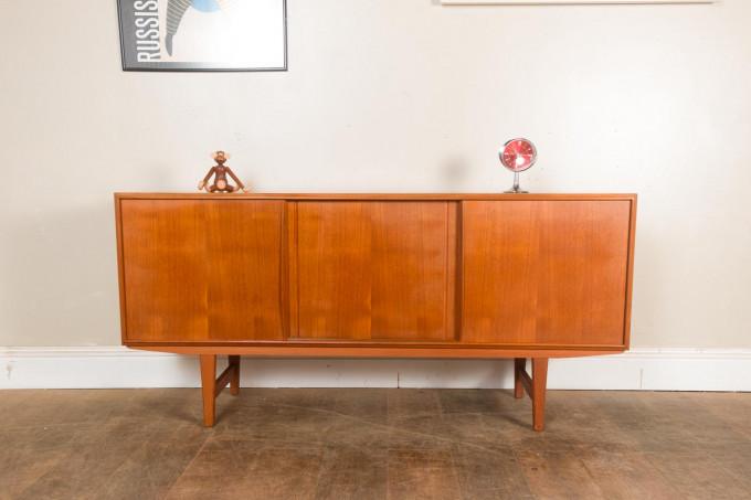 1960s Danish Mid Century Teak Small Sideboard