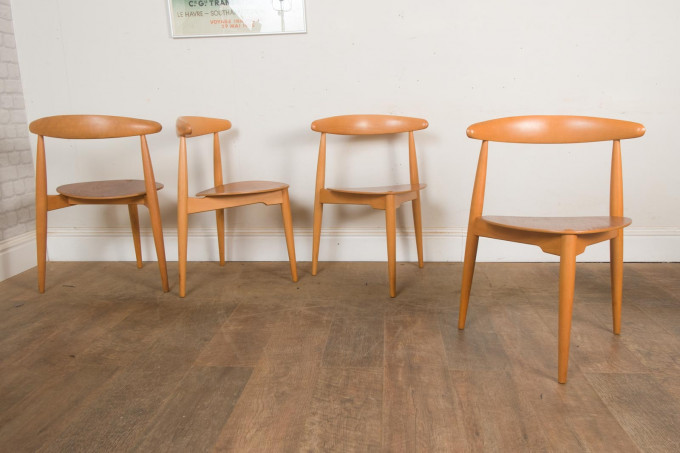 SET OF 4 FH 4103 DINING CHAIRS BY HANS WEGNER FOR FRITZ HANSEN