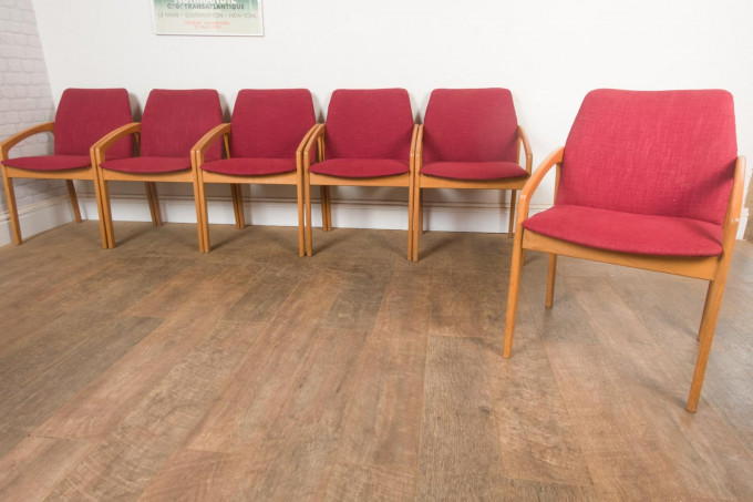 Kai Kristiansen Oak Dining Table & 6 Chairs Korup Stolefabrik