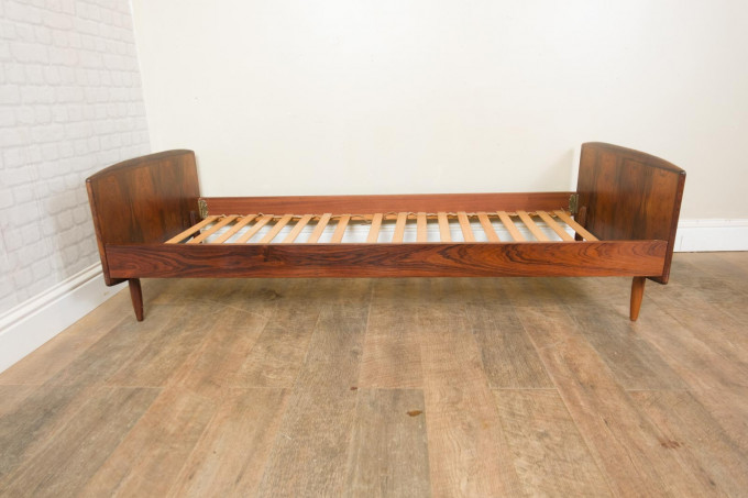Mid Century Danish Rosewood Single Bed by Melvin Mikkelson Mobler