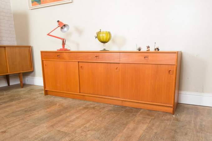 Mid Century Danish Teak Sideboard Model 51 by STM