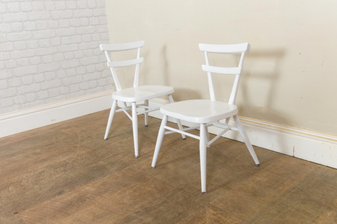 Vintage Ercol White Painted Childrens Stacking Stool