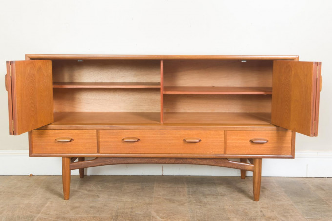 G Plan E Gomme Teak Sideboard with Bifold Doors