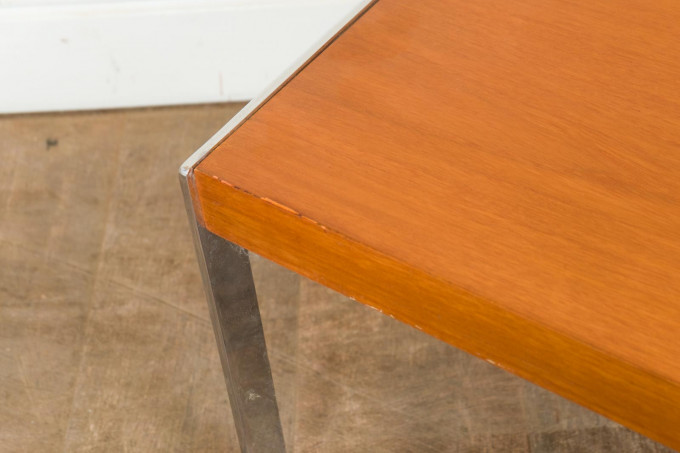 Teak and Chrome Side Table by Merrow Associates