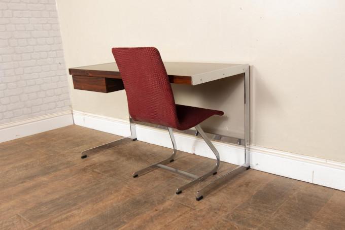Merrow Associate Chrome and Rosewood Desk
