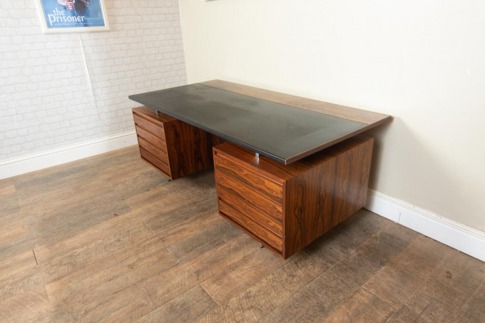 Rosewood Executive Desk By Robin Day for Hille