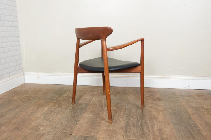 Set of 6 Teak Harry Ostergaard Dining Chairs for Randers