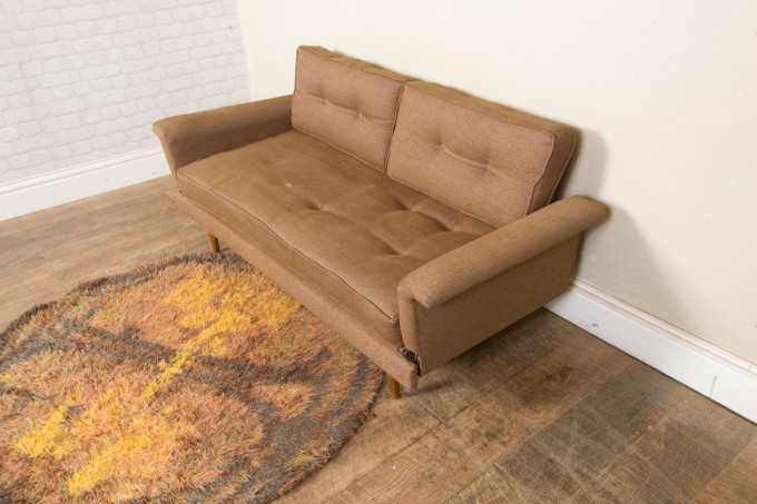 Vintage Mid Century 2 Seater Daybed Sofa Bed