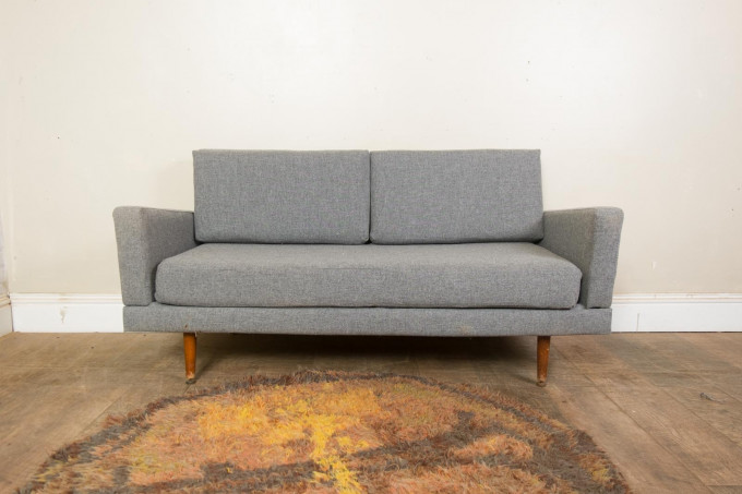 Vintage 2 Seater Daybed Sofa Bed Mid Century