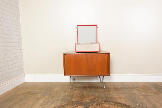 G Plan Teak Five form Cabinet – Record Player Storage