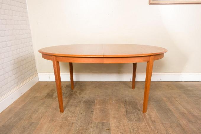Large Teak Danish Dining Table by Dyrlund