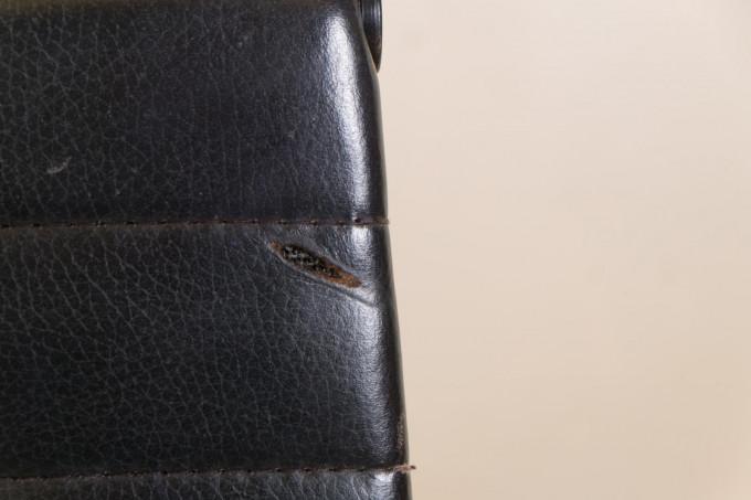 ICF Black Leather Desk Chair EA119