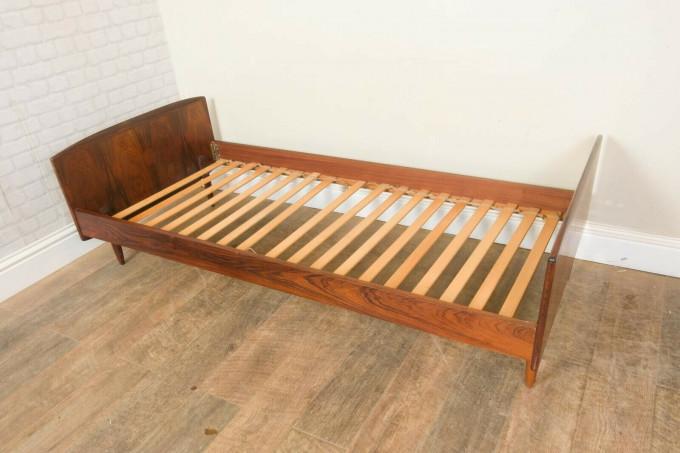 Danish Rosewood Single Bed by Melvin Mikkelson Mobler